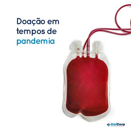 Posso doar sangue nesta pandemia?