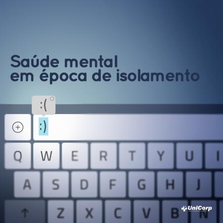 Saúde mental de época de isolamento